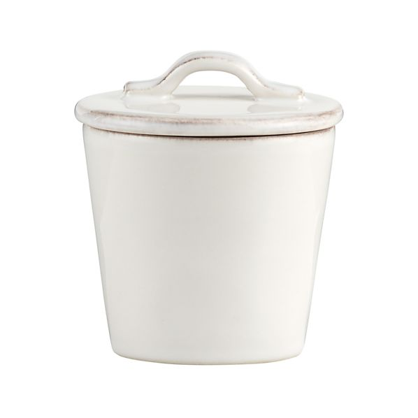 Marin White Sugar Bowl with Lid