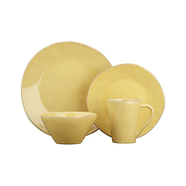 Marin Yellow 4-Piece Place Setting