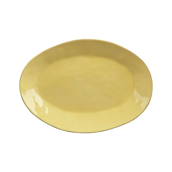 Marin Yellow Small Oval Platter