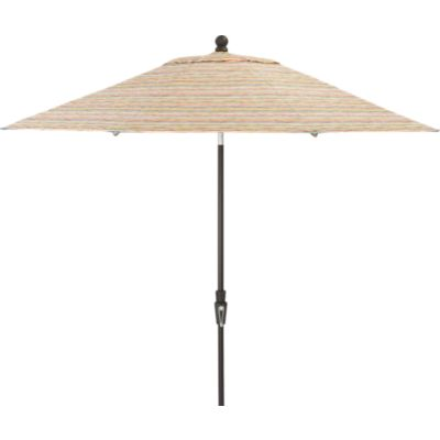 9' Round Handpainted Stripe Umbrella with Tilt Black Frame