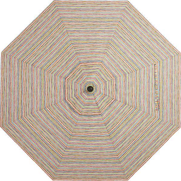 9' Round Handpainted Stripe Umbrella Canopy