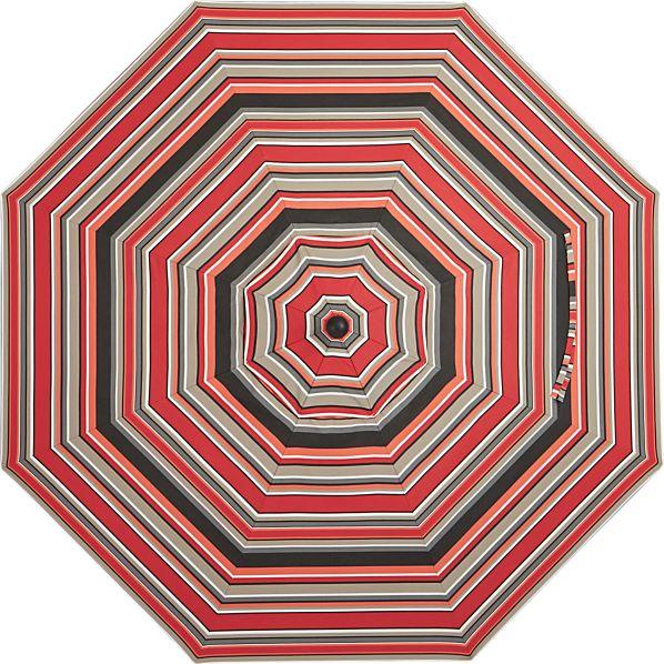 9' Round Sunbrella ® Red Multi Stripe Umbrella Cover