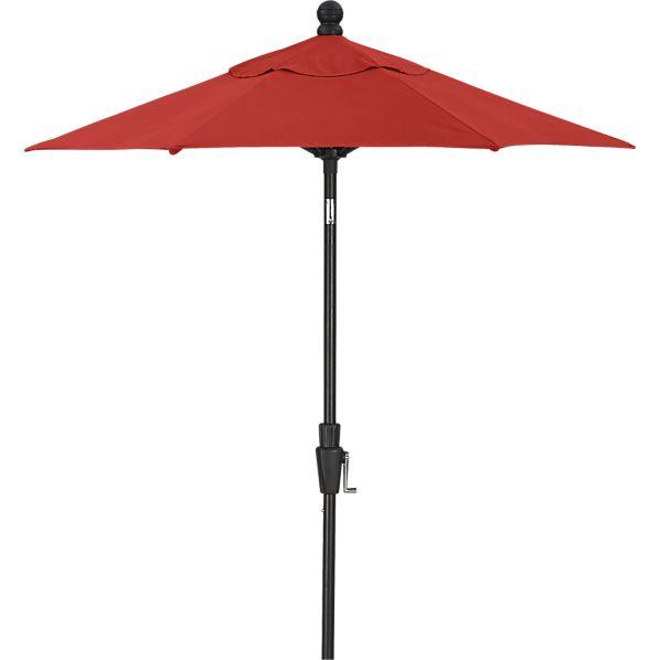 6' Round Sunbrella ® Caliente Umbrella with Black Frame