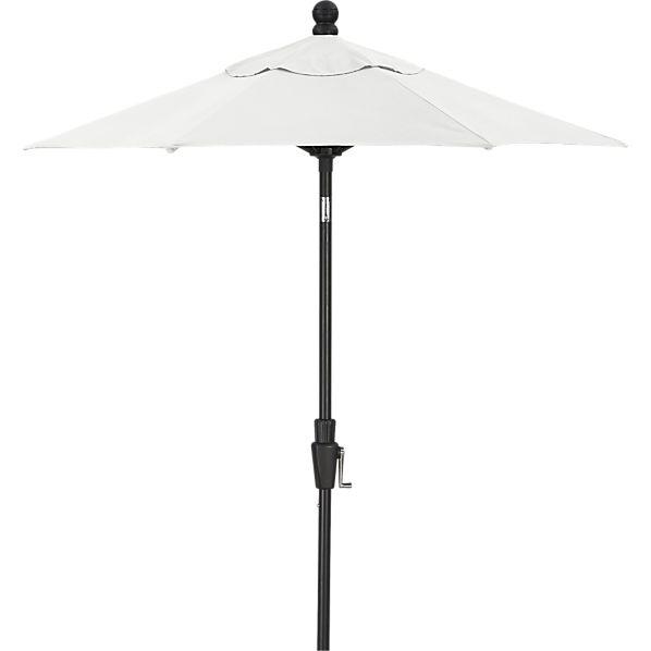 6' Round Sunbrella ® Eggshell Umbrella with Black Frame