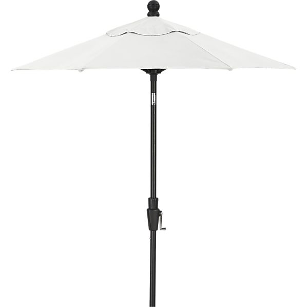 6' Round Sunbrella ® Eggshell Umbrella with Black Frame