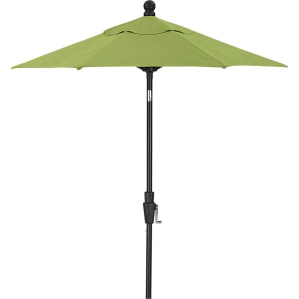 6' Round Sunbrella ® Kiwi Umbrella with Black Frame