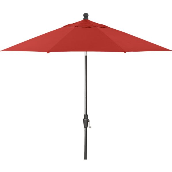 9' Round Sunbrella ® Caliente Umbrella with Black Frame