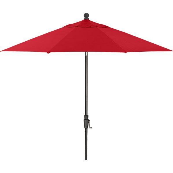 9' Round Sunbrella ® Chili Pepper Umbrella with Black Frame