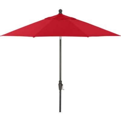 9 Round Sunbrella® Chili Pepper Umbrella with Black Frame