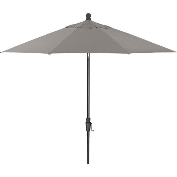 9' Round Sunbrella ® Graphite Umbrella with Black Frame