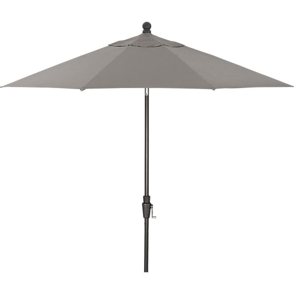 9' Round Sunbrella ® Graphite Umbrella with Black Frame