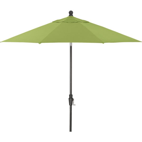 9' Round Sunbrella ® Kiwi Umbrella with Black Frame