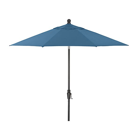 9' Round Sunbrella ® Turkish Tile Patio Umbrella with Tilt Black Frame