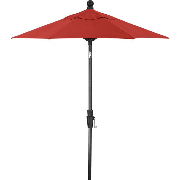 6' Round Sunbrella ® Caliente High Dining Umbrella with Black Frame