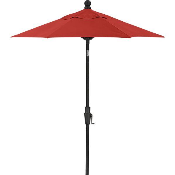 6' Round Sunbrella ® Caliente High Dining Umbrella with Black Frame