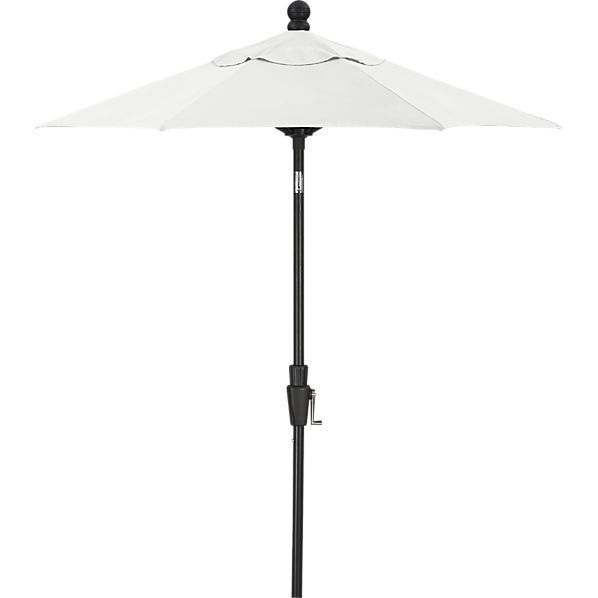 6' Round Sunbrella ® Eggshell High Dining Umbrella with Black Frame
