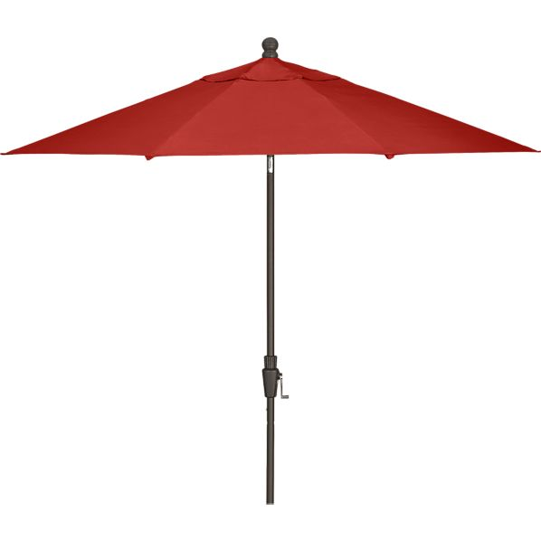 9' Round Sunbrella ® Caliente Umbrella with Bronze Frame