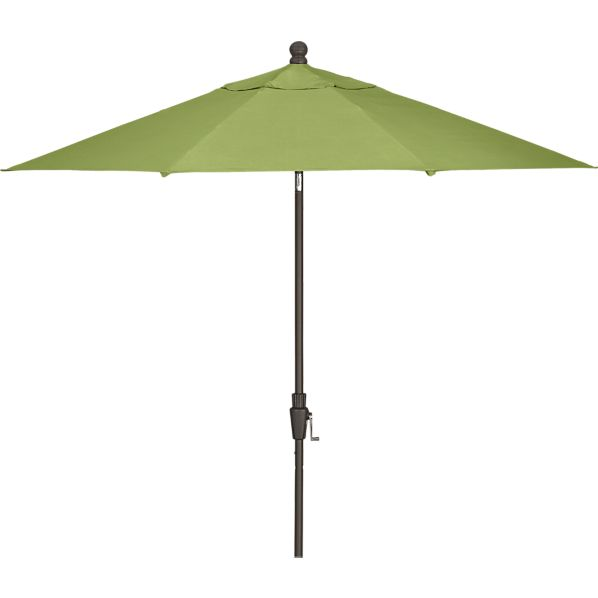 9' Round Sunbrella ® Kiwi Umbrella with Bronze Frame