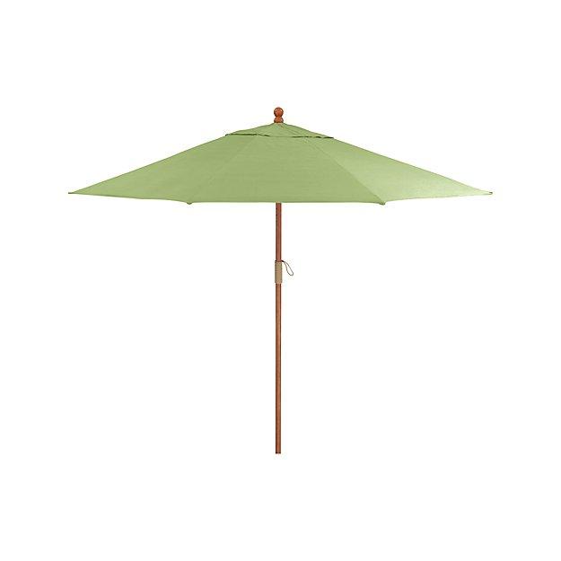 9 Round Sunbrella 174 Kiwi Outdoor Umbrella With Fsc