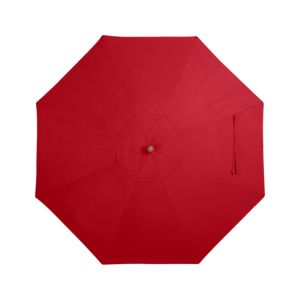 9' Round Sunbrella® Ribbon Red Umbrella Cover