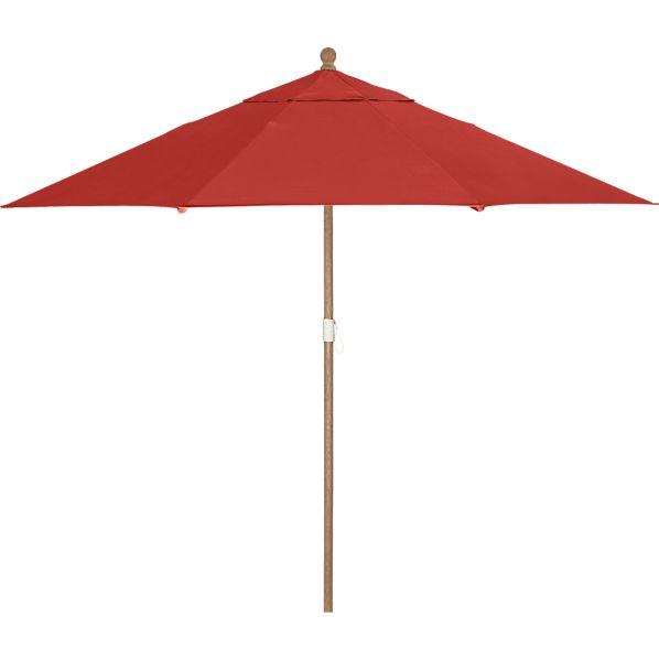 9' Round Sunbrella ® Caliente Umbrella with Eucalyptus Frame