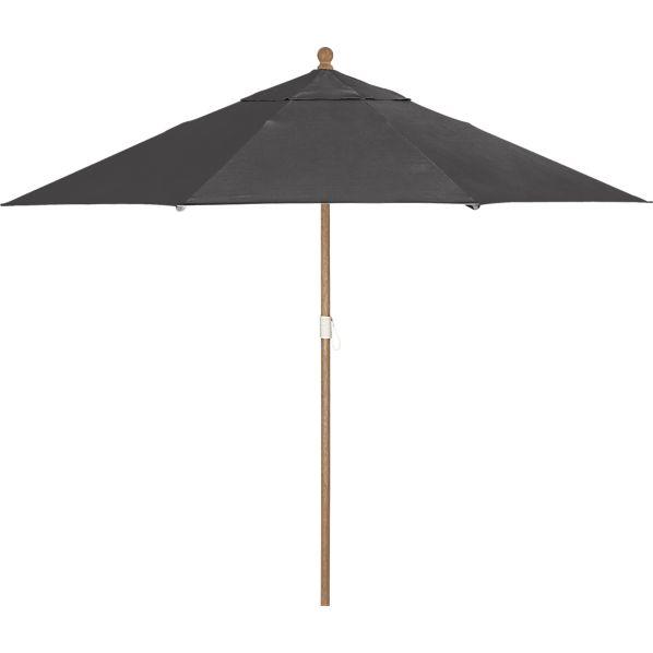 9' Round Sunbrella ® Charcoal Umbrella with Eucalyptus Frame
