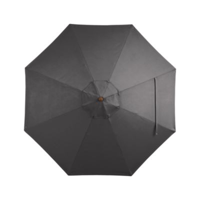 9 Round Sunbrella® Charcoal Umbrella Cover