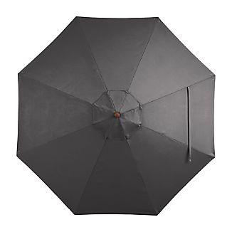 9' Round Sunbrella ® Charcoal Umbrella Canopy