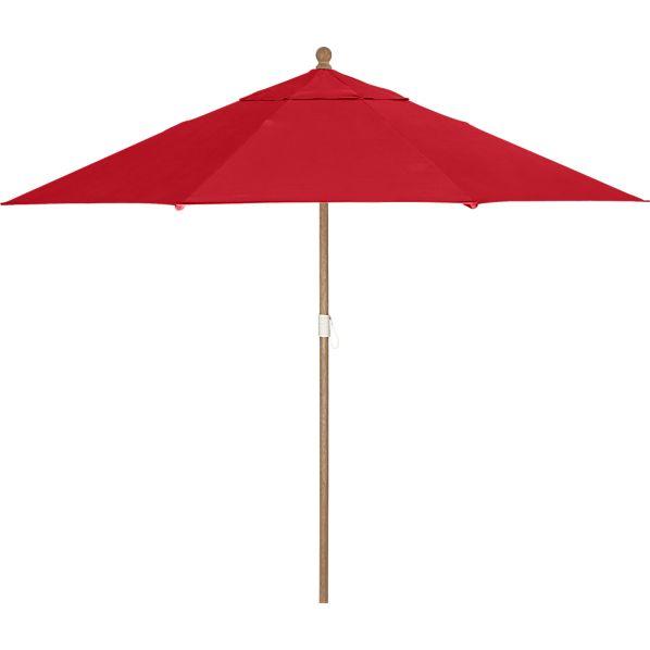 9' Round Sunbrella ® Chili Pepper Umbrella with Eucalyptus Frame