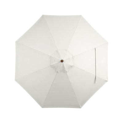 9' Round Sunbrella® White Sand Umbrella Cover