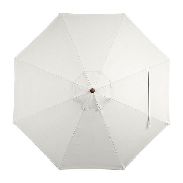 9' Round Sunbrella ® White Sand Umbrella Canopy