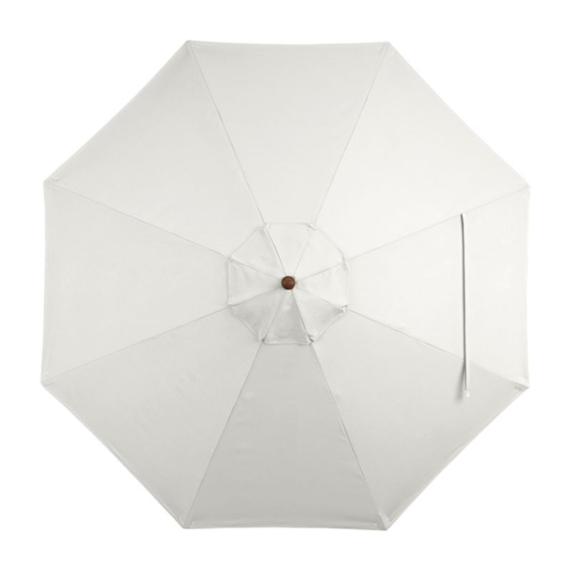 "A warm white sand canopy in fade- and mildew-resistant Sunbrella® acrylic blocks out 98% of the sun's rays. Fits all of our 9' round frames. For frame and stand options with this cover, see below (frames and stands sold separately).<br /><br /><NEWTAG/><ul><li>Cover: fade- and mildew-resistant Sunbrella acrylic umbrella (fits all 9' round frames; spot clean)</li><li>Frames (sold separately): adjustable FSC-certified eucalyptus with solid brass pulley; or aluminum tilt with silver or black finish</li><li>Stands (sold separately): rustproof poly resin and stone-polyester mixture, in charcoal finish</li><li>Small stand accommodates all our aluminum umbrella frames and 9' round eucalyptus frame</li><li>Use large stand with any of our umbrella frames: accommodates 1.5""dia. frame with adapter, or 1.875""dia. frame without adapter</li><li>Large stand works with a table or on its own</li><li>Made in USA or China</li></ul>"
