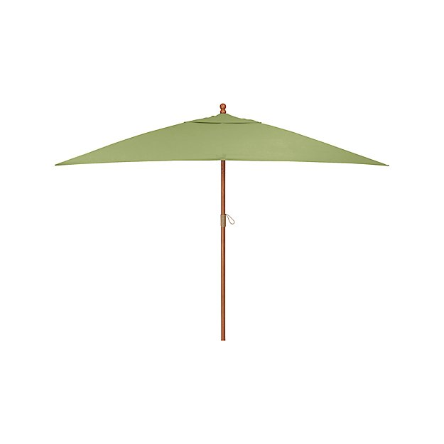 Rectangular Sunbrella R Kiwi Outdoor Umbrella With