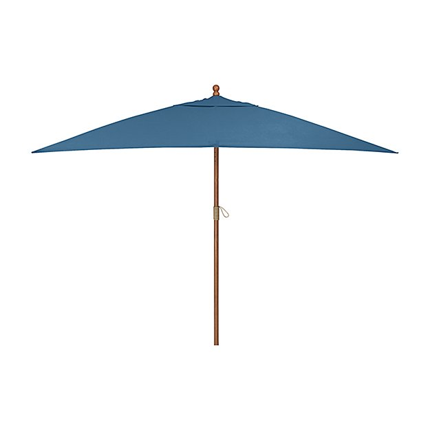 Rectangular Sunbrella ® Turkish Tile Patio Umbrella with Eucalyptus Frame
