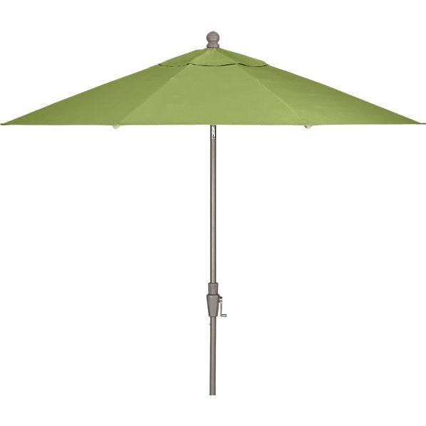 9' Round Sunbrella ® Kiwi Umbrella with Silver Frame