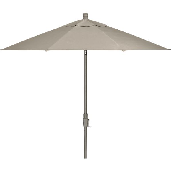 9' Round Sunbrella ® Stone Umbrella with Charcoal Frame
