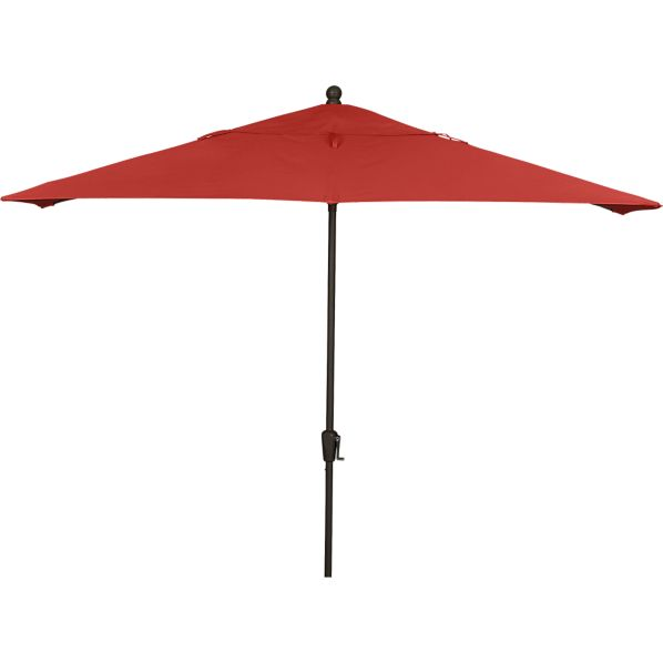 Rectangular Sunbrella ® Caliente Umbrella with Bronze Frame