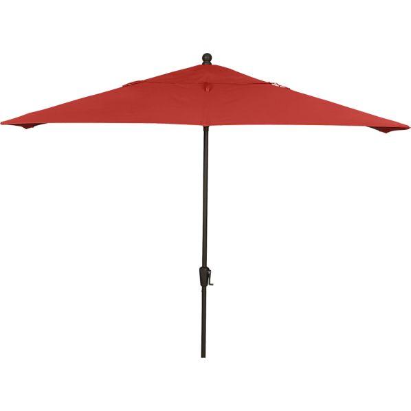 Rectangular Sunbrella ® Caliente Umbrella with Bronze Frame