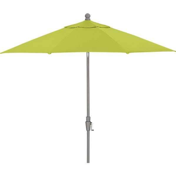 9' Round Sunbrella ® Apple Umbrella with Silver Frame