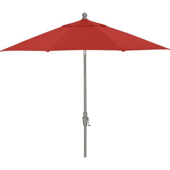 9' Round Sunbrella ® Caliente Umbrella with Silver Frame