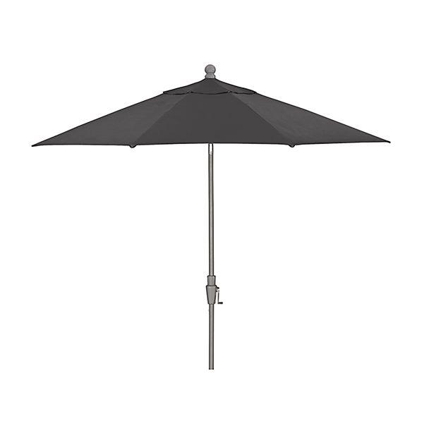 9' Round Sunbrella ® Charcoal Patio Umbrella with Tilt Silver Frame