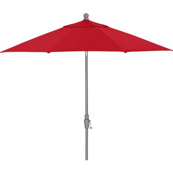 9' Round Sunbrella ® Chili Pepper Umbrella with Silver Frame