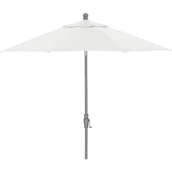 9' Round Sunbrella ® Eggshell Umbrella with Silver Frame