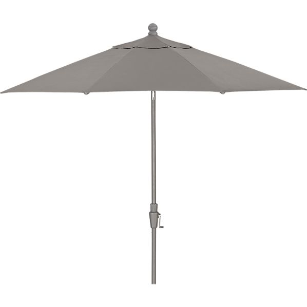 9' Round Sunbrella ® Graphite Umbrella with Silver Frame