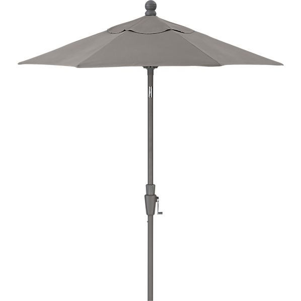 6' Round Sunbrella ® Graphite High Dining Umbrella with Silver Frame