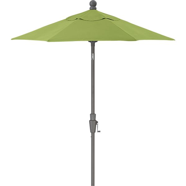 6' Round Sunbrella ® Kiwi High Dining Umbrella with Silver Frame