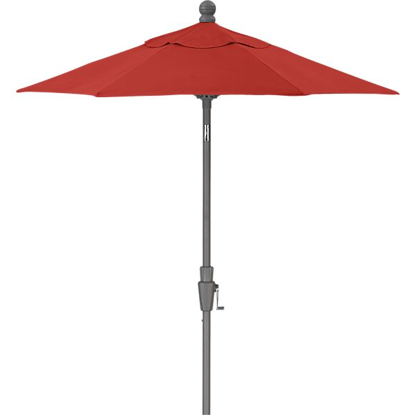 6' Round Sunbrella ® Caliente Umbrella with Silver Frame