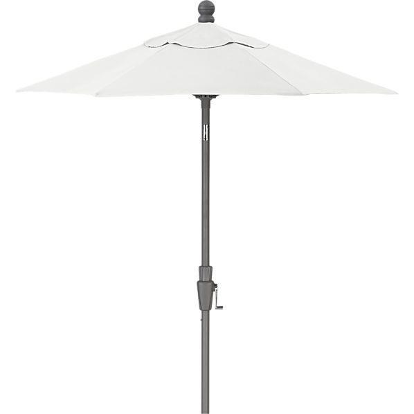 6' Round Sunbrella ® Eggshell Umbrella with Silver Frame