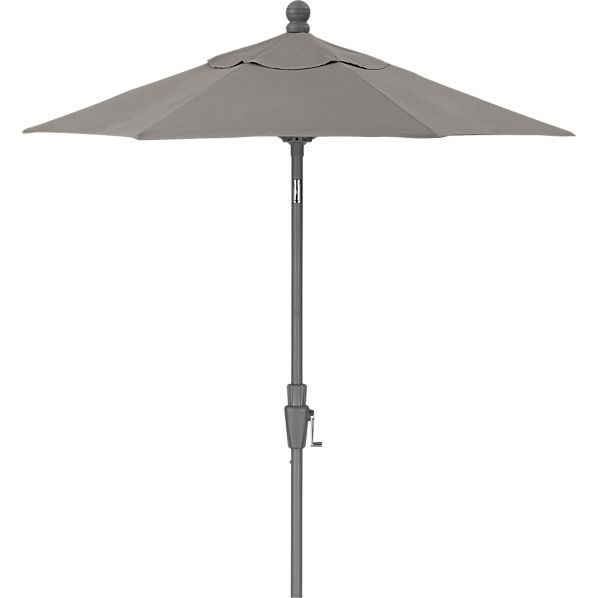 6' Round Sunbrella ® Graphite Umbrella with Silver Frame