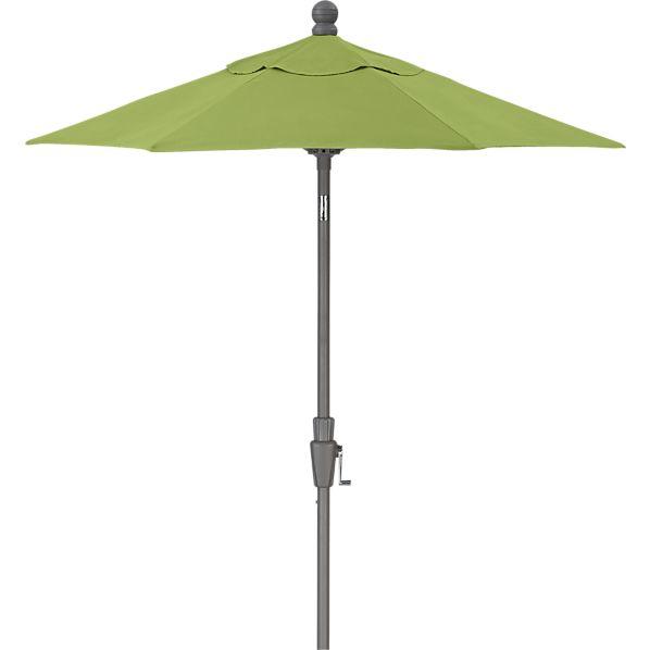 6' Round Sunbrella ® Kiwi Umbrella with Silver Frame